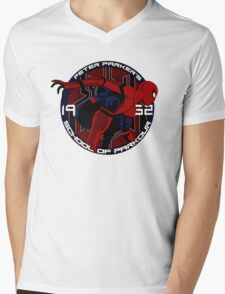 Spider Man - Peter Parker's School of Parkour Mens V-Neck T-Shirt