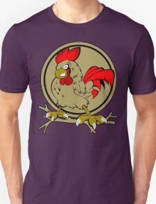 Angry Rooster on tree T-Shirt