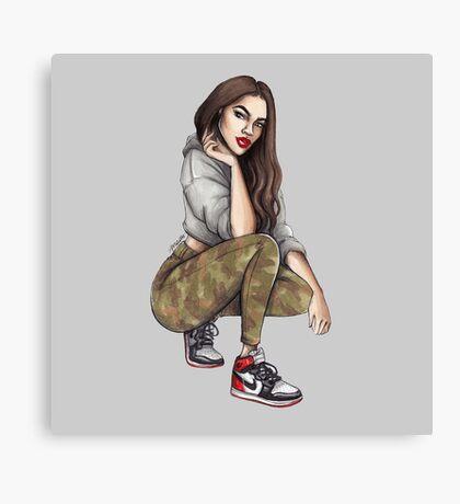 Camo Girl Canvas Print