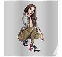 Camo Girl Poster