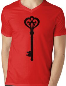 Victorian Key Mens V-Neck T-Shirt