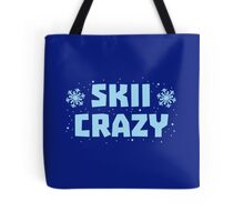 SKII CRAZY with snowflakes Tote Bag