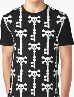 Vintage Skull Key to the Pirate Treasure Chest - White Graphic T-Shirt