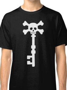 Vintage Skull Key to the Pirate Treasure Chest - White Classic T-Shirt