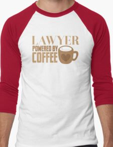 LAWYER powered by coffee Men's Baseball ¾ T-Shirt