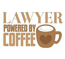 LAWYER powered by coffee Photographic Print
