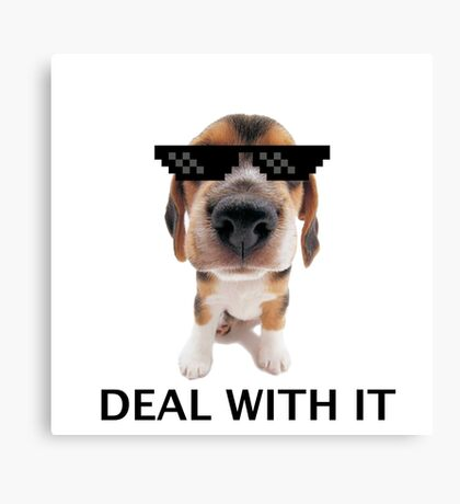 Deal with it pup Canvas Print