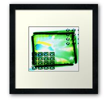 Abstract Green Bloc Framed Print