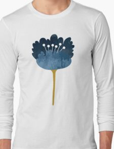 Watercolor Abstract Flowers Long Sleeve T-Shirt