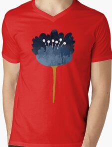 Watercolor Abstract Flowers Mens V-Neck T-Shirt