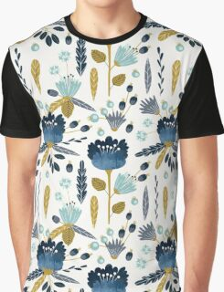 Watercolor Abstract Flowers Graphic T-Shirt