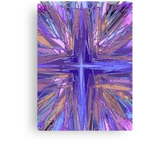 Purple religious cross illustration Canvas Print