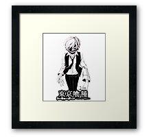 kaneki black and white tokyo ghoul Framed Print