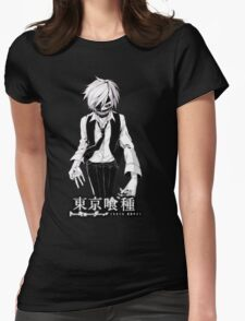 kaneki black and white tokyo ghoul Womens Fitted T-Shirt