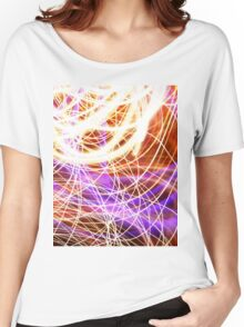 Psychedelic Neon Light Party Women's Relaxed Fit T-Shirt