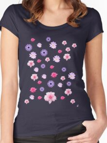 Mixed Roses and Other Flowers Women's Fitted Scoop T-Shirt