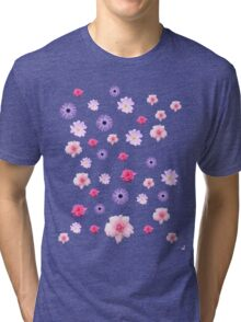 Mixed Roses and Other Flowers Tri-blend T-Shirt