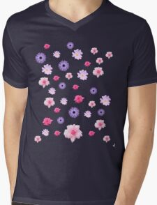Mixed Roses and Other Flowers Mens V-Neck T-Shirt