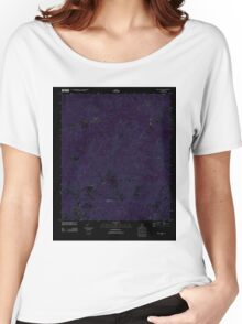 USGS TOPO Map Alabama AL Sims Chapel 20111006 TM Inverted Women's Relaxed Fit T-Shirt