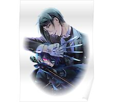 sebastian protecting ciel with forks  Poster