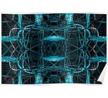 Abstract futuristic tangled pattern Poster
