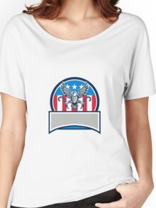 American Eagle Clutching Towing J Hook Circle Retro Women's Relaxed Fit T-Shirt