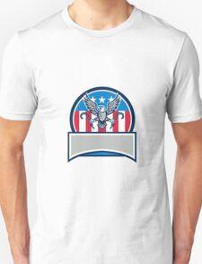 American Eagle Clutching Towing J Hook Circle Retro Unisex T-Shirt