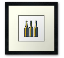 Beer Bottles Retro Framed Print