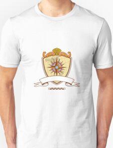 Compass Navigator Map Coat of Arms Crest Retro T-Shirt