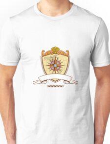 Compass Navigator Map Coat of Arms Crest Retro Unisex T-Shirt