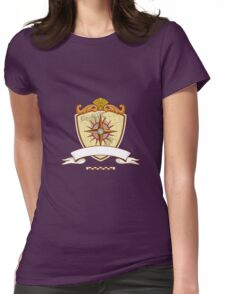 Compass Navigator Map Coat of Arms Crest Retro Womens Fitted T-Shirt