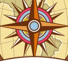 Compass Navigator Map Coat of Arms Crest Retro Sticker