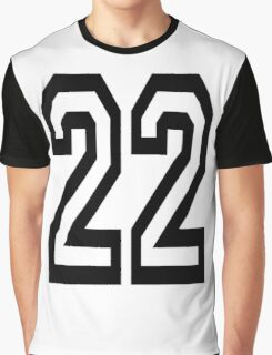 22, TEAM SPORTS, NUMBER 22, TWENTY, TWO, Twenty Second, Competition,  Graphic T-Shirt