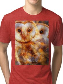 Designs Inspired By Nature: Barn Owl Tri-blend T-Shirt