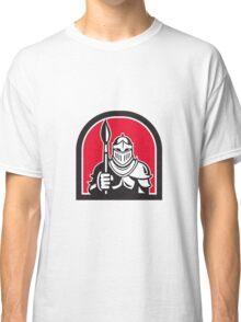 Knight Full Armor Holding Paint Brush Half Circle Retro Classic T-Shirt