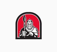 Knight Full Armor Holding Paint Brush Half Circle Retro Unisex T-Shirt