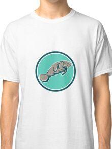 Manatee Sea Cow Circle Retro Classic T-Shirt