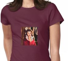 Scarlett O' Hara portrait Womens Fitted T-Shirt