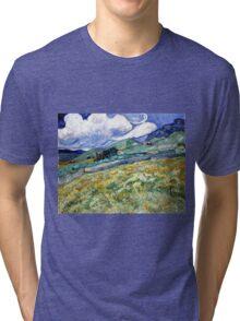 Vincent van Gogh Landscape from Saint-Remy Tri-blend T-Shirt