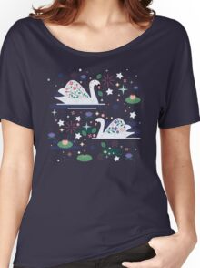 Swans on Stars  Women's Relaxed Fit T-Shirt