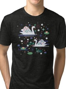 Swans on Stars  Tri-blend T-Shirt