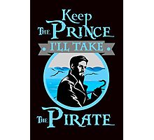Captain Hook. OUAT. Keep The Prince, I'll Take The Pirate. Photographic Print