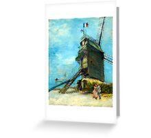 Vincent van Gogh Le Moulin de la Galette Greeting Card