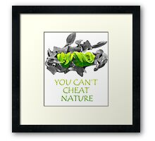 You can't cheat nature - snake Framed Print