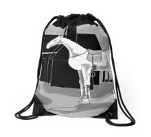The Bushranger's Horse Drawstring Bag
