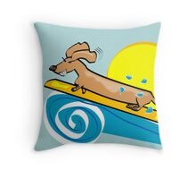 Surf's Pup Throw Pillow