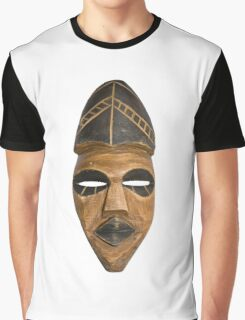 African Tribal Mask Graphic T-Shirt