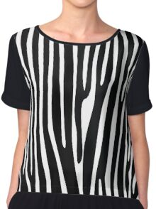 Quiet Zebra Chiffon Top