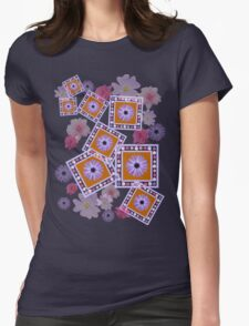 Mixture of Roses and Other Flowers Womens Fitted T-Shirt