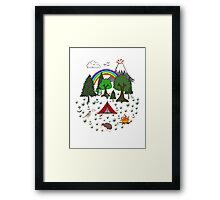 New Zealand Camping Scene with Kiwi Framed Print
